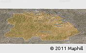 Satellite Panoramic Map of Copperbelt, semi-desaturated