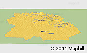 Savanna Style Panoramic Map of Copperbelt, single color outside