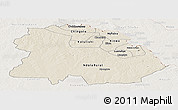 Shaded Relief Panoramic Map of Copperbelt, lighten