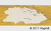 Shaded Relief Panoramic Map of Copperbelt, physical outside