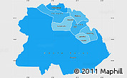 Political Shades Simple Map of Copperbelt, single color outside