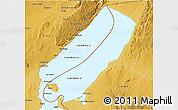 Physical 3D Map of Lake Mweru