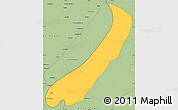 Savanna Style Simple Map of Lake Mweru