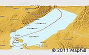 Physical Panoramic Map of Lake Mweru