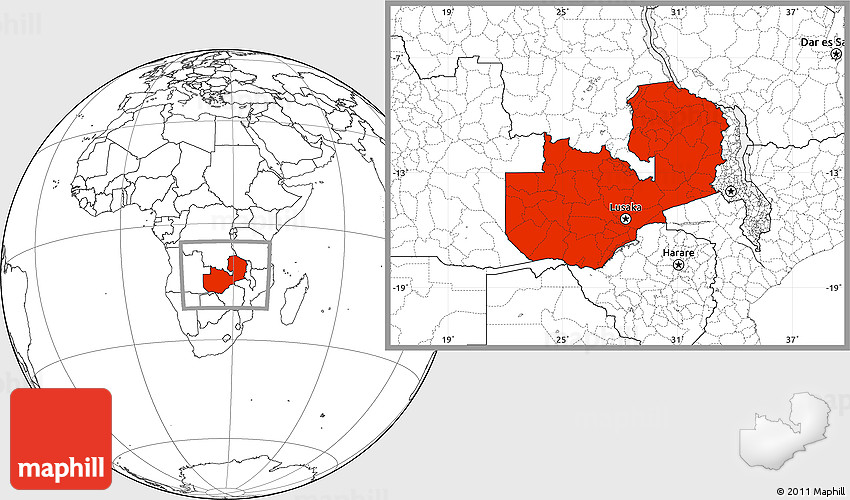 Blank location map of zambia 2d gumiabroncs Images