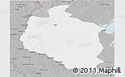 Gray Panoramic Map of Mansa
