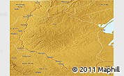 Physical Panoramic Map of Mansa
