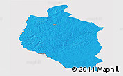 Political Panoramic Map of Mansa, cropped outside
