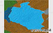 Political Panoramic Map of Mansa, darken