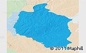 Political Panoramic Map of Mansa, lighten