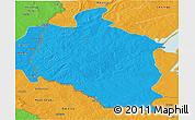 Political Panoramic Map of Mansa