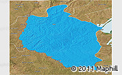 Political Panoramic Map of Mansa, satellite outside