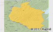Savanna Style Panoramic Map of Mansa