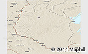 Shaded Relief Panoramic Map of Mansa
