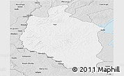 Silver Style Panoramic Map of Mansa
