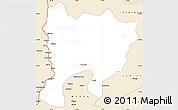 Classic Style Simple Map of Mwense
