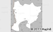 Gray Simple Map of Mwense