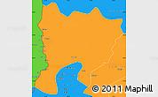 Political Simple Map of Mwense