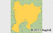 Savanna Style Simple Map of Mwense
