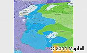Political Shades Panoramic Map of Luapula