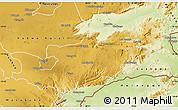 Physical Map of Lusaka Rural