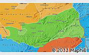Political Shades Map of Lusaka