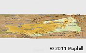 Physical Panoramic Map of Lusaka, satellite outside