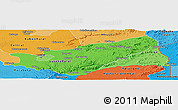 Political Shades Panoramic Map of Lusaka