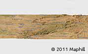 Satellite Panoramic Map of Lusaka