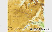 Physical Map of Zambia