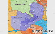 Political Shades Map of Zambia