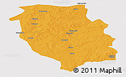 Political Panoramic Map of Kasempa, cropped outside