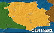 Political Panoramic Map of Kasempa, darken