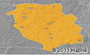 Political Panoramic Map of Kasempa, desaturated