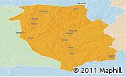 Political Panoramic Map of Kasempa, lighten