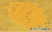 Political Panoramic Map of Kasempa, physical outside
