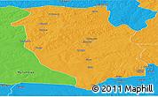 Political Panoramic Map of Kasempa