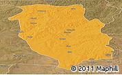 Political Panoramic Map of Kasempa, satellite outside