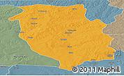 Political Panoramic Map of Kasempa, semi-desaturated