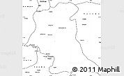 Blank Simple Map of Mufumbwe