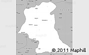 Gray Simple Map of Mufumbwe