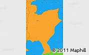 Political Simple Map of Mwinilunga