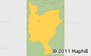 Savanna Style Simple Map of Mwinilunga