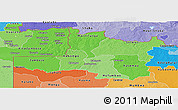 Political Shades Panoramic Map of North Western