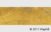 Physical Panoramic Map of Solwezi