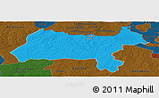 Political Panoramic Map of Solwezi, darken