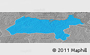 Political Panoramic Map of Solwezi, desaturated