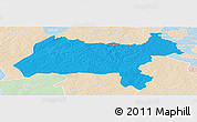 Political Panoramic Map of Solwezi, lighten