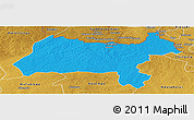 Political Panoramic Map of Solwezi, physical outside