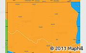 Political Simple Map of Zambezi